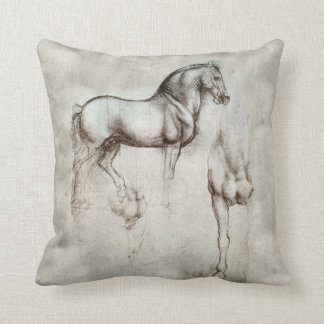 Carreau de cheval de da Vinci Coussin Décoratif