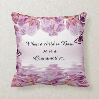 Carreau de citation de grand-mère de papillons coussin
