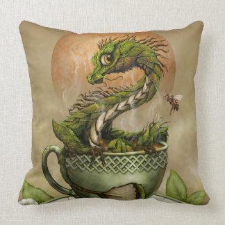 Carreau de dragon de thé coussin décoratif