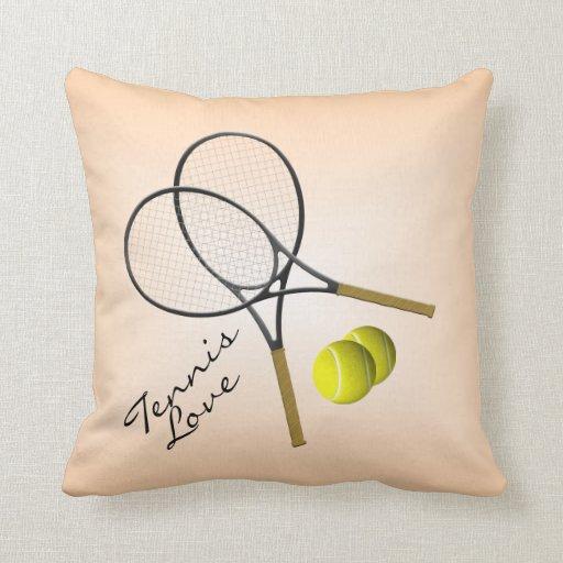 Carreau de Mojo d'amour de tennis Oreiller