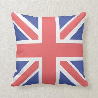 Carreau de polyester de drapeau du Royaume-Uni Coussin