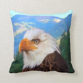 Carreau d'Eagle chauve Coussin