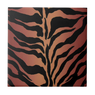 Carreau Décor à la maison rayé de tigre de poster de