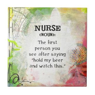 Carreau Définition d'une infirmière