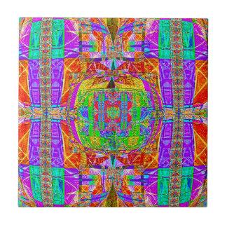 Carreau Dessin géométrique vibrant magnifique