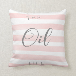 Carreau d'huile essentielle de rose et de blanc oreiller