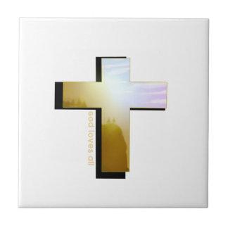 Carreau Dieu aime toute la croix