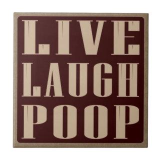 Carreau Dire vivant d'humour de dunette de rire