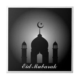 Carreau Dôme de mosquée et silhouette de minaret