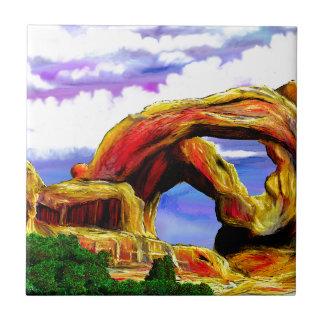 Carreau Double peinture de paysage de voûte
