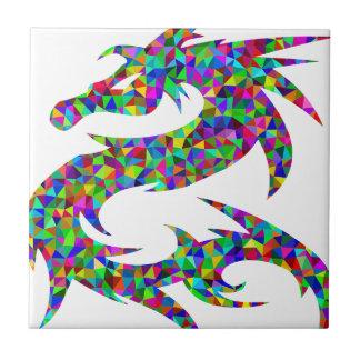 Carreau dragon coloré