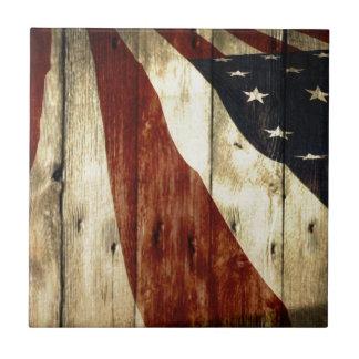 Carreau Drapeau américain de fibre de bois americana