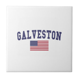 Carreau Drapeau de Galveston USA