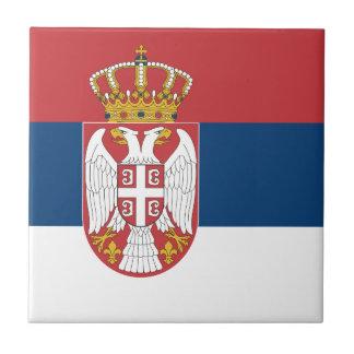 Carreau Drapeau de la Serbie