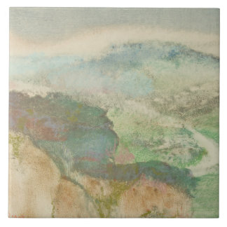 Carreau Edgar Degas - paysage