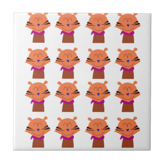 Carreau Édition d'enfants de renards d'éléments de