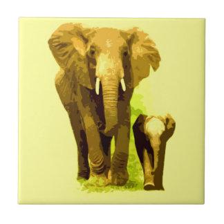 Carreau Éléphant et éléphant de bébé