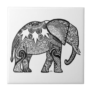 Carreau Éléphant modelé