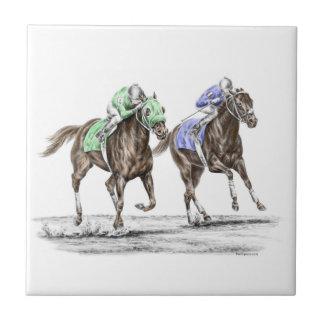 Carreau Emballage de chevaux de pur sang