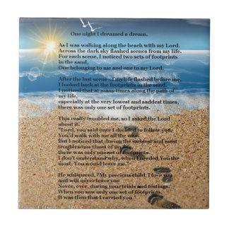 Carreau Empreintes de pas dans le sable