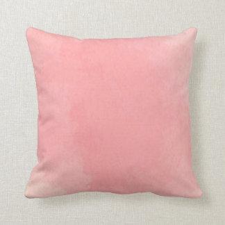 Carreau en pastel rose d'aquarelle coussin