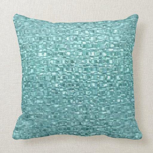 carreau en verre de turquoise coussin zazzle. Black Bedroom Furniture Sets. Home Design Ideas