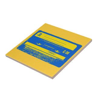 Carreau Enregistreur à cassettes bleu et jaune