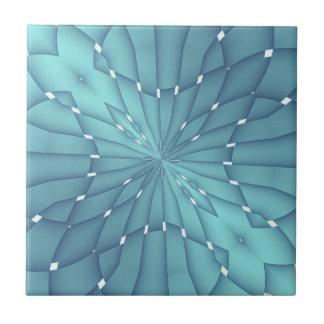 Carreau Étoile métallique de bleu et de turquoise