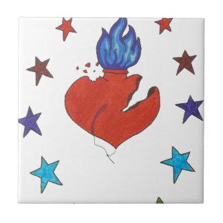 Carreau Étoiles et coeur