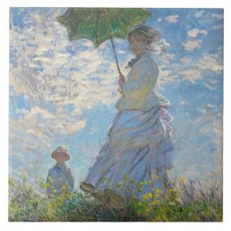 Carreau Femme de Claude Monet | avec un parasol