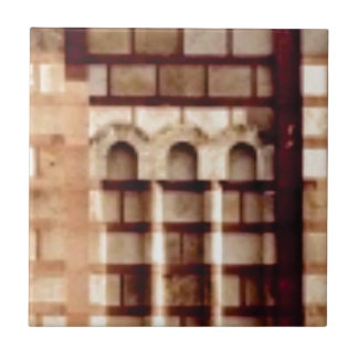 Carreau fenêtre brune de bloc