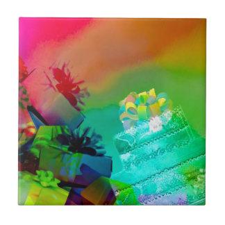 Carreau Fest des cadeaux et des couleurs