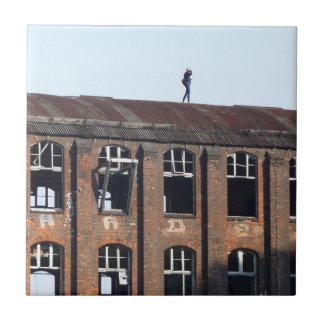 Carreau Fille sur le toit 02,2, endroits perdus