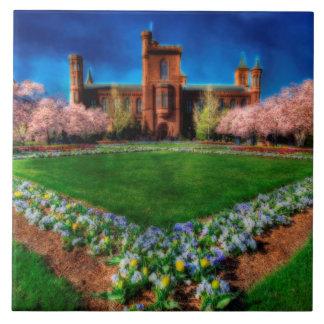 Carreau Fleurs de cerisier de jardin de château de