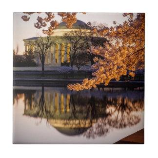 Carreau Fleurs de cerisier et le mémorial 2 de Jefferson