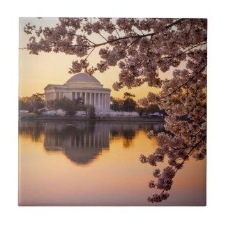 Carreau Fleurs de cerisier et le mémorial de Jefferson