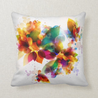 Carreau floral coloré coussin