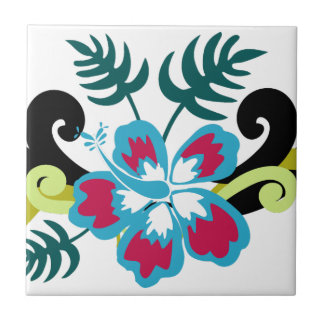 Carreau Floral hawaïen