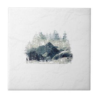 Carreau Forêt d'hiver