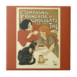 Carreau Français vintage de publicité de Compagnie