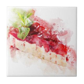 Carreau Gâteau au fromage d'aquarelle