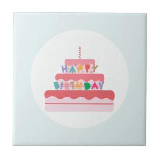 Carreau Gâteau de joyeux anniversaire