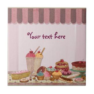 Carreau Gâteaux de boutique de boulangerie - Patisserie -