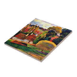 Carreau Gauguin : Ferme en Bretagne, peinture 1894