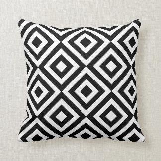 Carreau géométrique noir et blanc coussins carrés