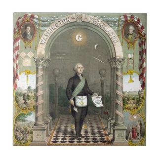 Carreau George Washington en tant que franc-maçon