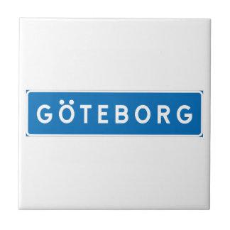 Carreau Gothenburg, panneau routier suédois