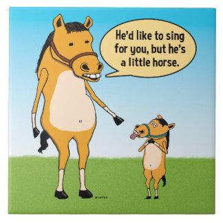 Carreau Grand cheval drôle et petit cheval