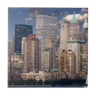 Carreau Gratte-ciel de Manhattan le Hudson d'horizon de