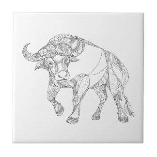 Carreau Griffonnage de remplissage de Buffalo africain